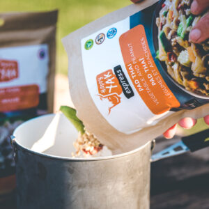 A good freeze-dried meal in the outdoors