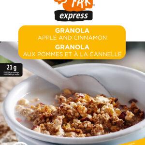 granola aux pommes et à la cannelle
