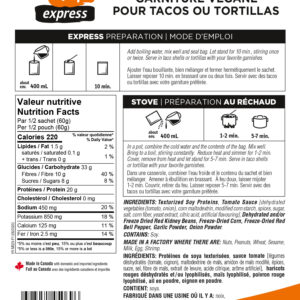 Garniture Tacos