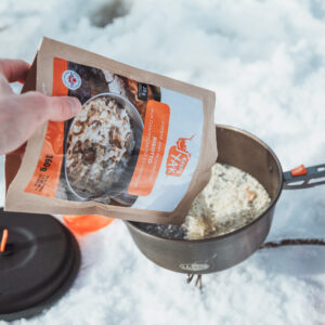 What to eat for an ice fishing day? A good mushroom and cheese risotto!