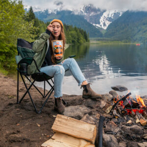 Katia and Josh in the British Columbia mountains