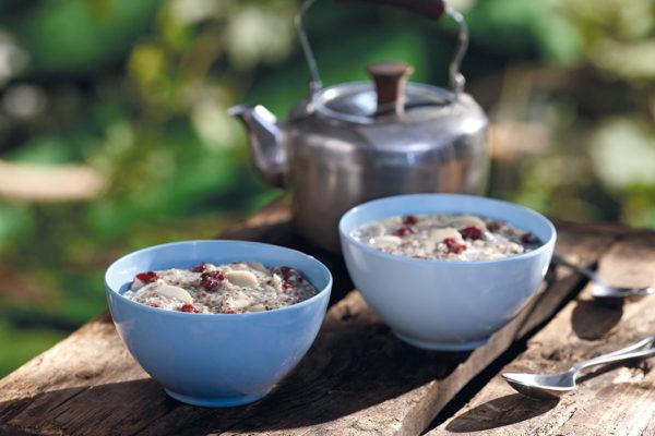 Régal au chia, amandes et canneberges