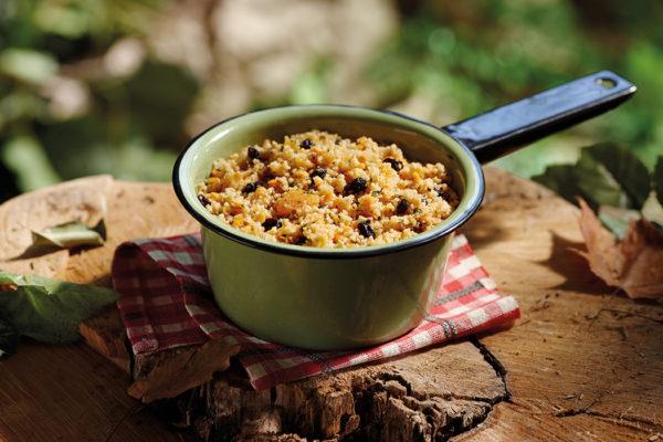 Festin marocain (couscous et lentilles)