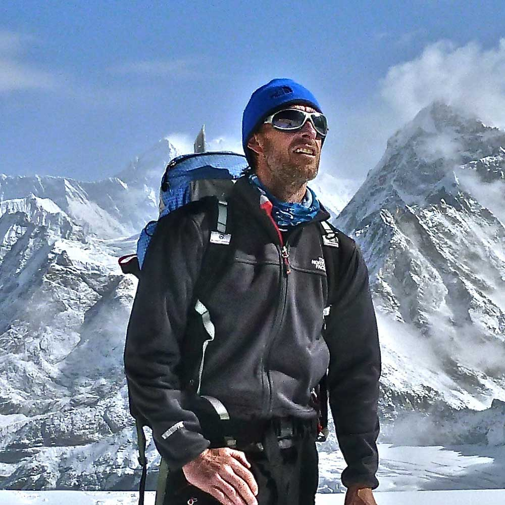 Gabriel Filippi with Mt Everest mountain